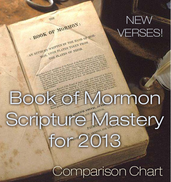 BoMSscripturemasterynew New Scripture Mastery Passages for Book of Mormon 2013