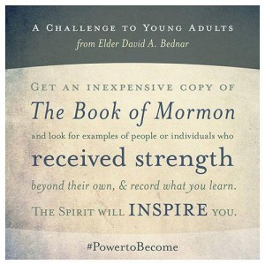 Get an inexpensive copy of the Book of Mormon and look for examples of people or individuals who received strength beyond their own and record what you learn.  The spirit will inspire you.