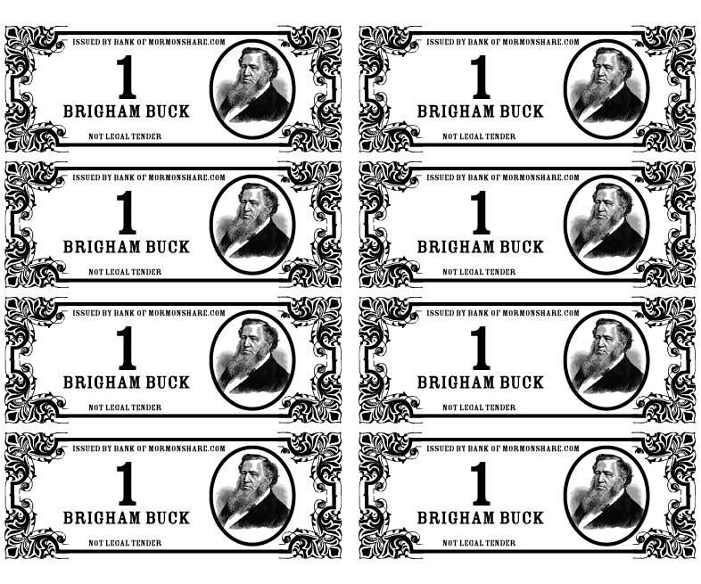 Jenny smith 39 s lds ideas brigham bucks for Classroom bucks template