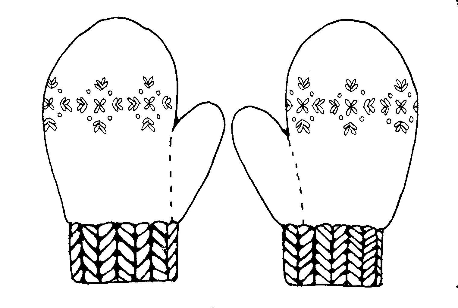 Free coloring pages of the mitten is red