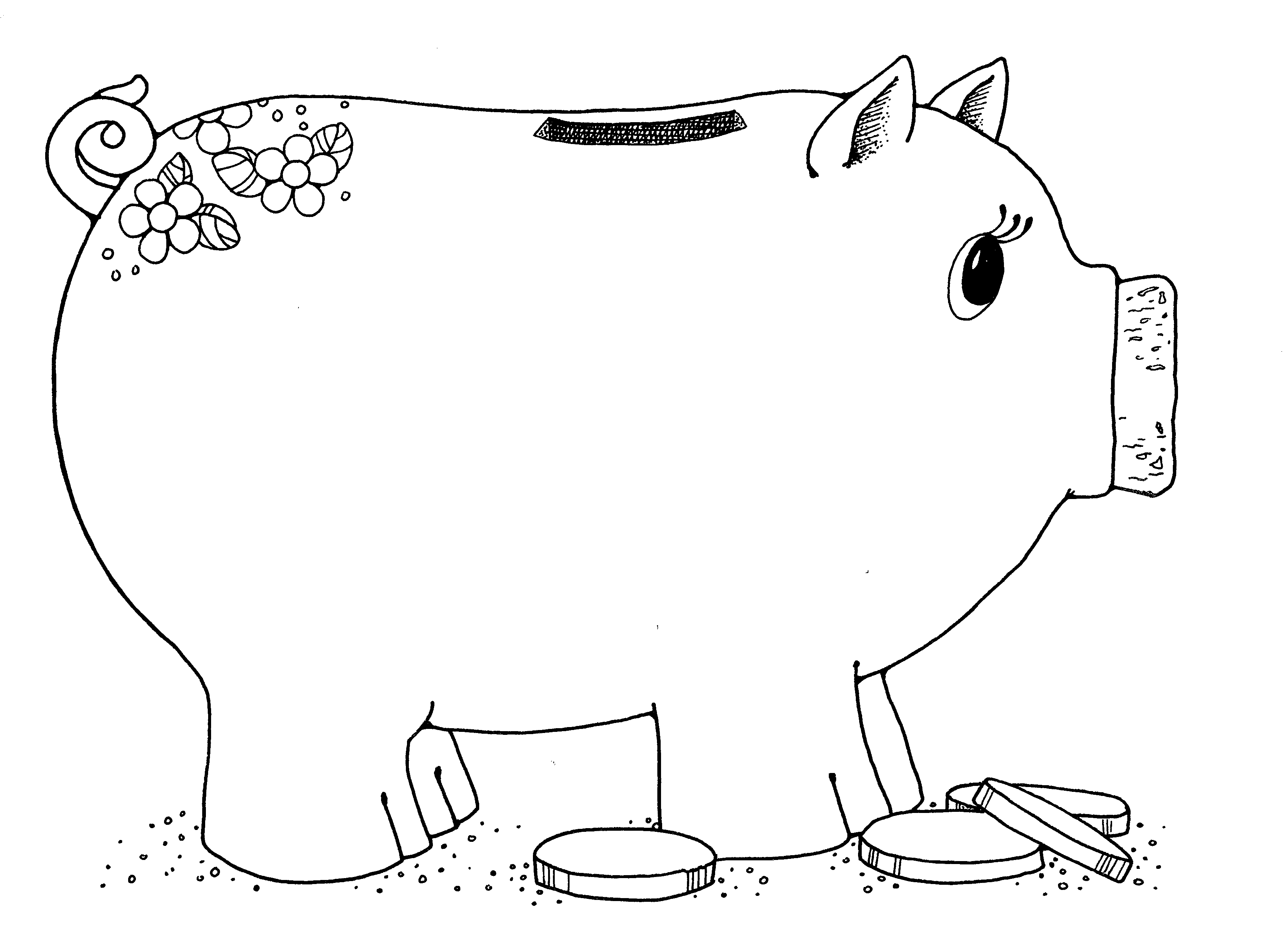 Piggy bank 2 jenny smith 39 s lds ideas bookstore for Piggy bank coloring page