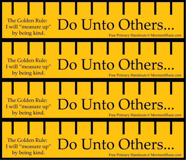 The Golden Rule: Kindness | Jenny Smith's LDS Ideas & Bookstore