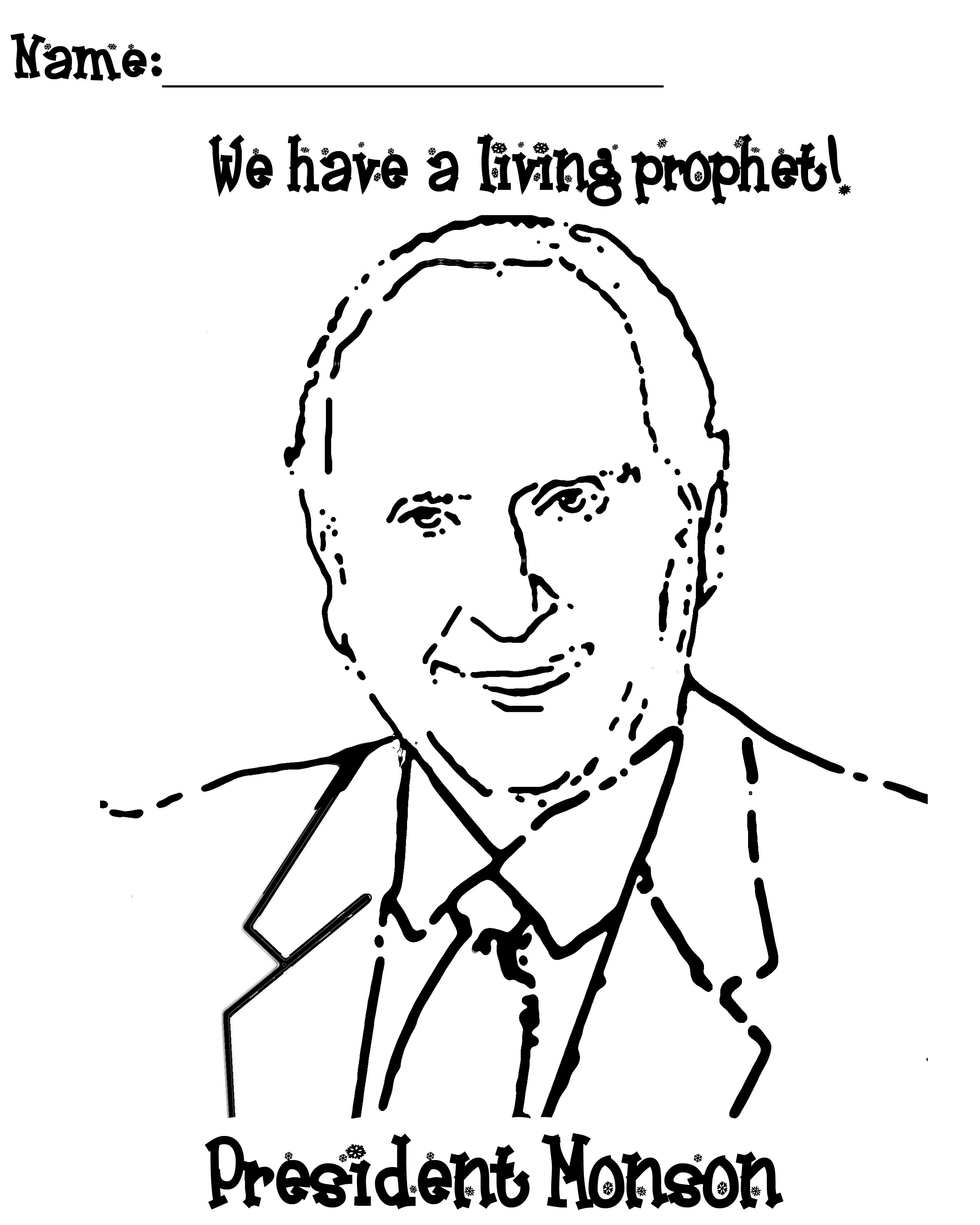 thomas s monson coloring page president monson coloring page jenny smith 39 s lds ideas