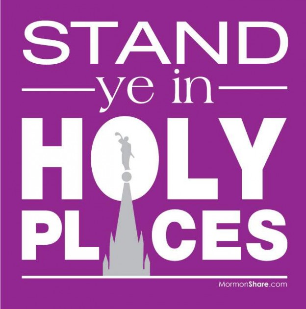 Stand ye in Holy Places | Jenny Smith's LDS Ideas & Bookstore