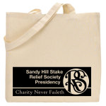 Charity Never Faileth Logo Tote