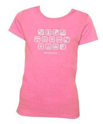 shirtdesign1} Pink L(10-12)