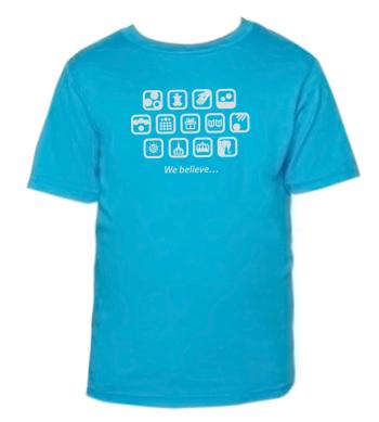 shirtdesign1} Turquoise L(10-12)