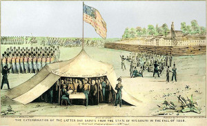 Joseph Smith surrenders to General Atchison, October 1838.
