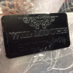 IMG 3298 Chomas Engraving tool Review - on Aluminum Business Card