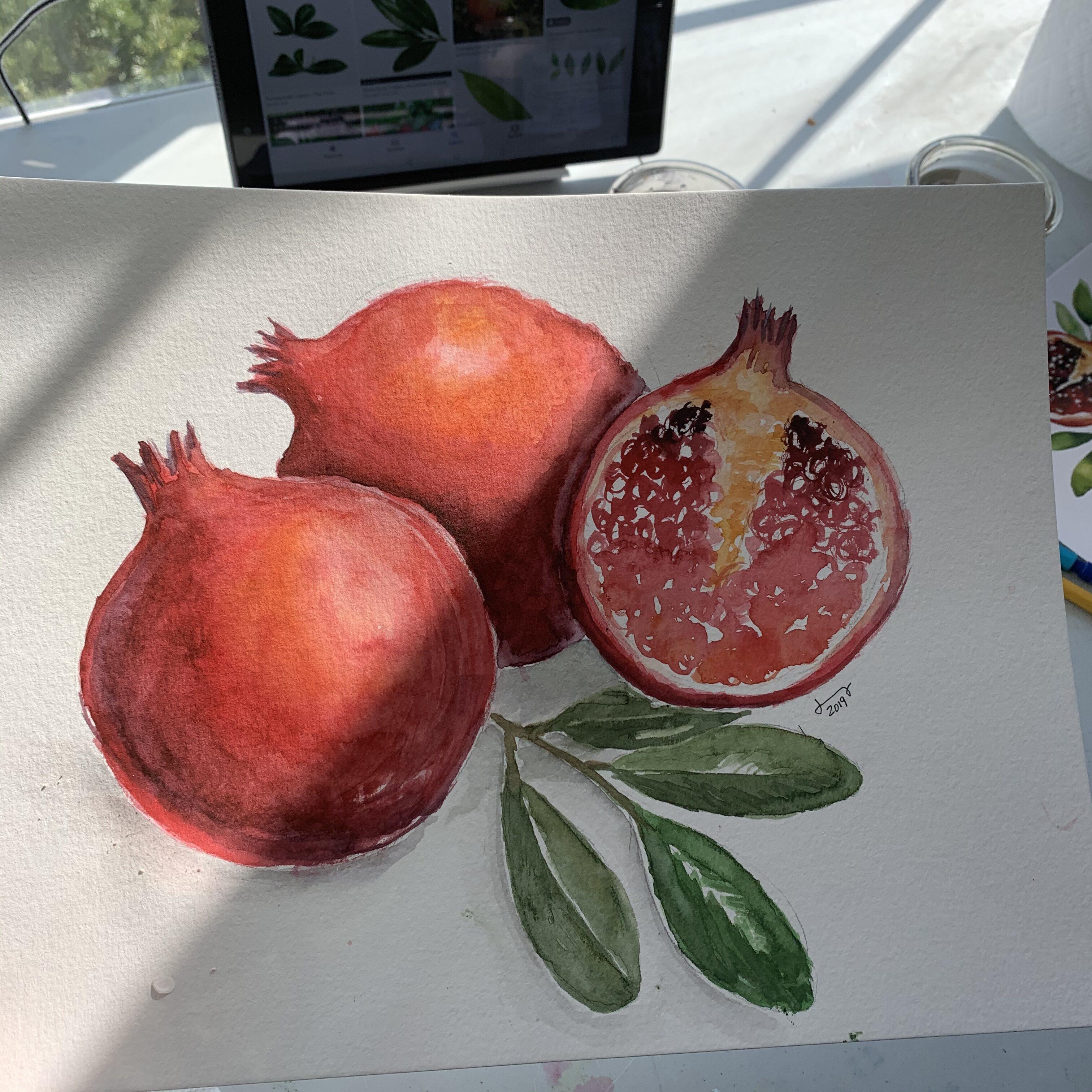 40937475 5588 40DA BAD3 D67DEC149125 Fall Pomegranate and leaf