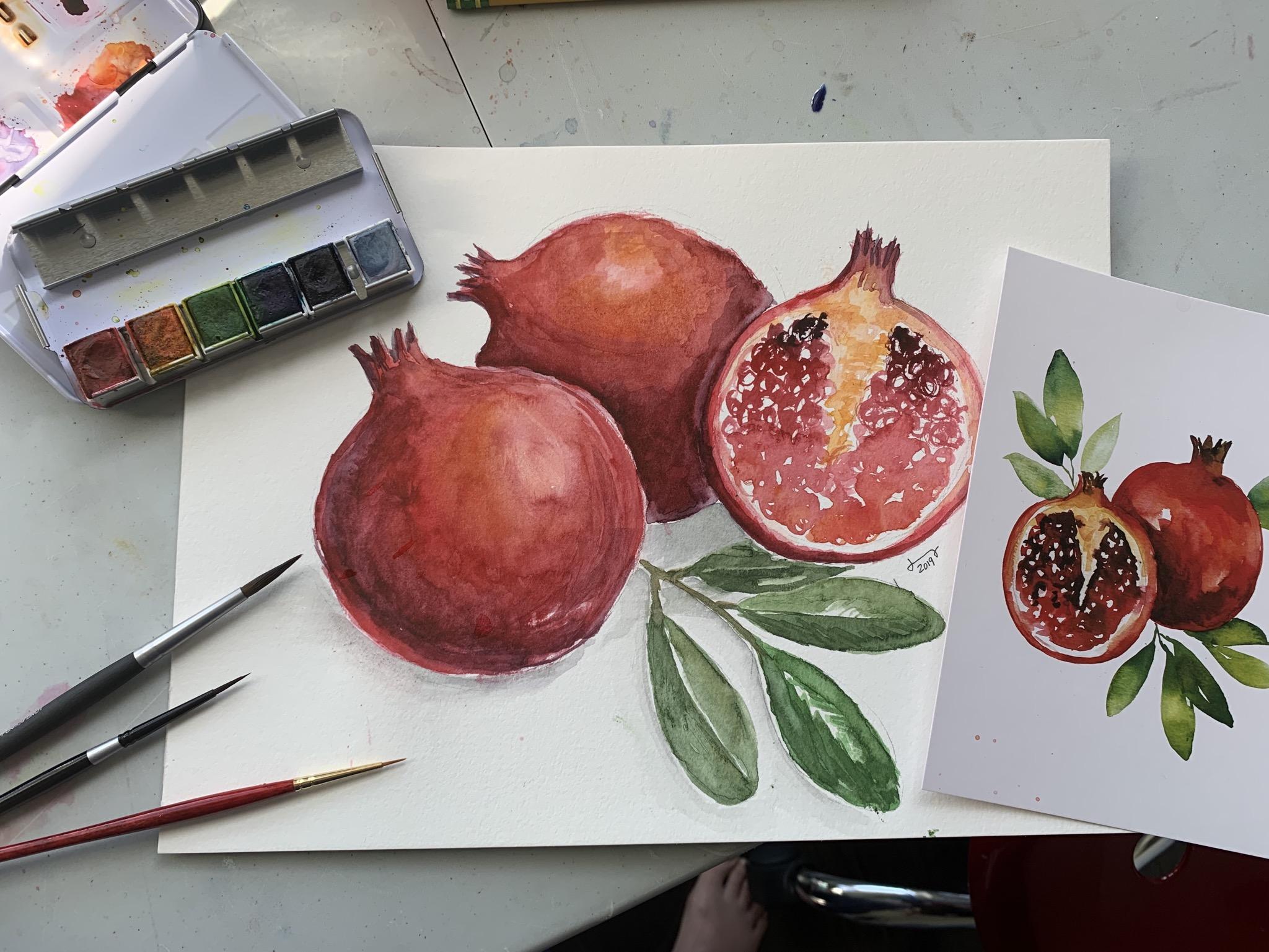 9416BB83 F39E 4303 AF2C 3B5337E7B7CF Fall Pomegranate and leaf
