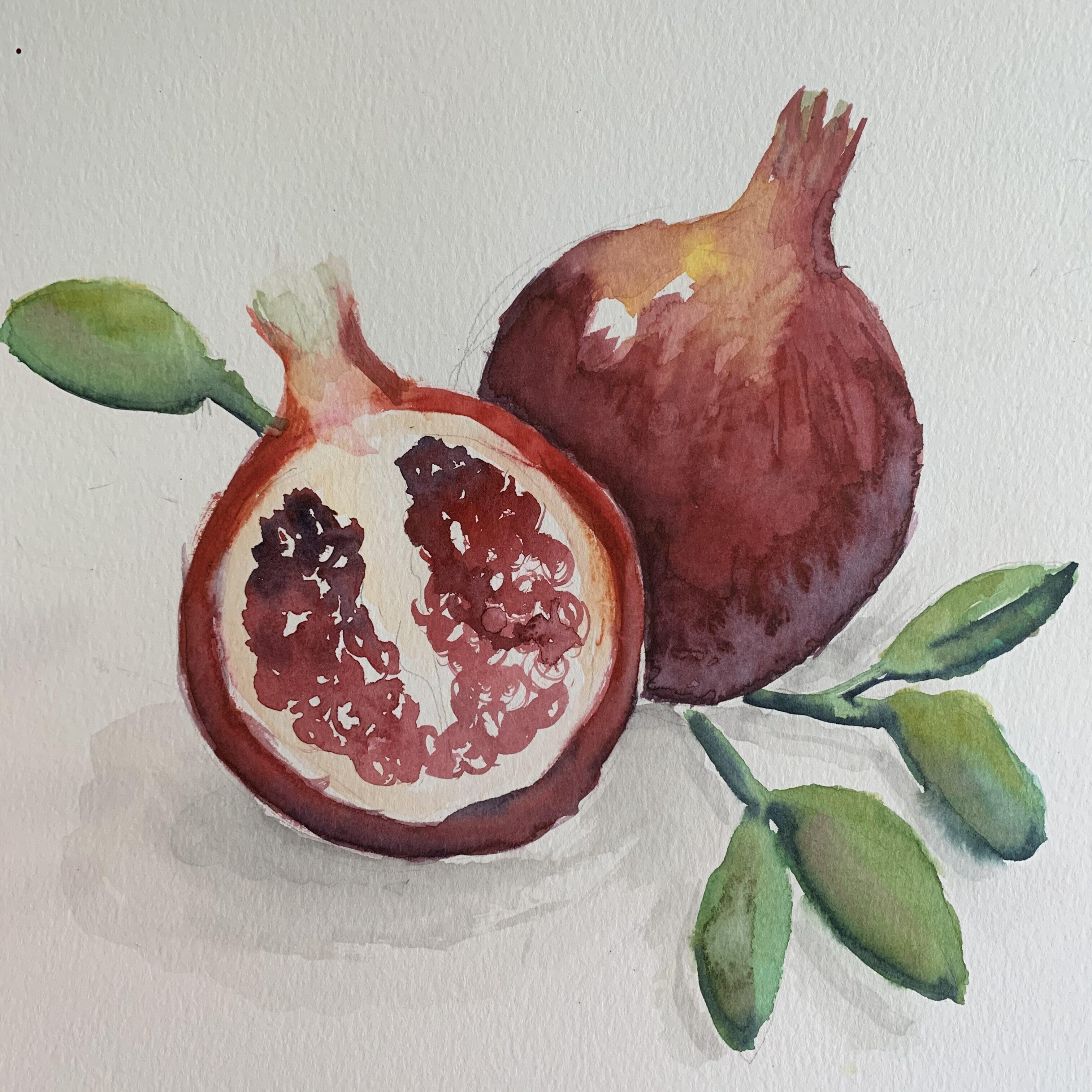 9F2DBFD6 A483 43A4 8403 0C6622E96767 Fall Pomegranate and leaf